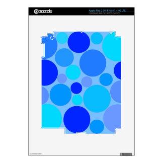 Triple Blue Polkadots iPad 3 Skin