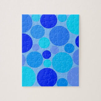 Triple Blue Polkadots Puzzle