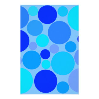 Triple Blue Polkadots Stationery