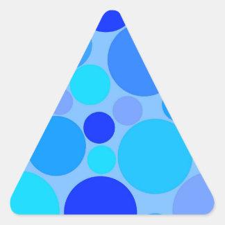 Triple Blue Polkadots Triangle Sticker