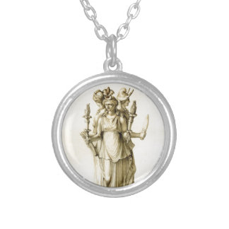 Triple-Bodied Hecate Silver Plated Necklace
