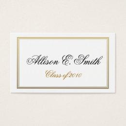 graduate name cards