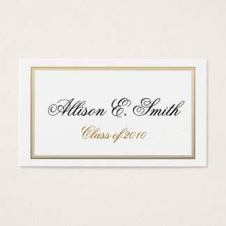 Triple Bordered Graduation Name Card