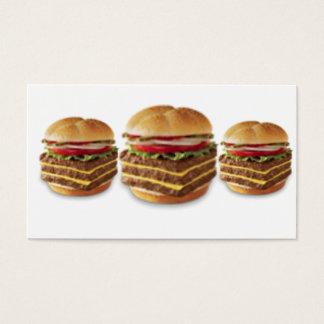 Triple burger, Triple burger, Triple burger Business Card