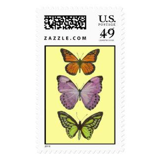 Triple Butterfly Postage