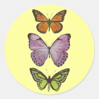 Triple Butterfly Sticker
