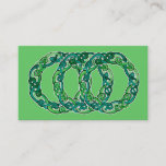 Triple Celtic Knot Hoop Business Card