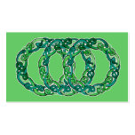 Triple Celtic Knot Hoop Double-Sided Standard Business Cards (Pack Of 100)