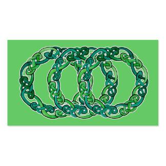 Triple Celtic Knot Hoop Business Cards