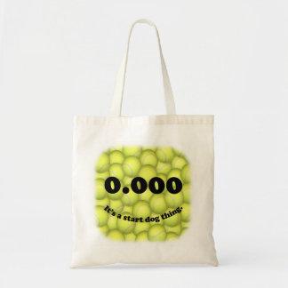 Triple cero, 0,000, tote del presupuesto de Flybal Bolsas De Mano