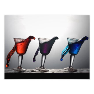 Triple Cocktail Spill 2 Photographic Print