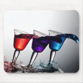 Triple Cocktail Spill Mouse Pad