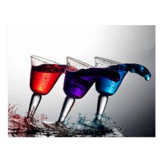Triple Cocktail Spill Postcard