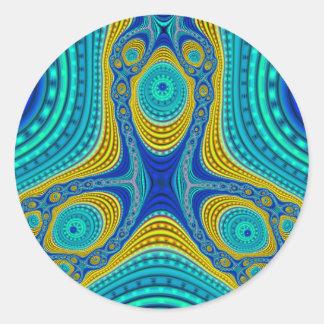 Triple Compressed Variation 2 Stickers (Round)