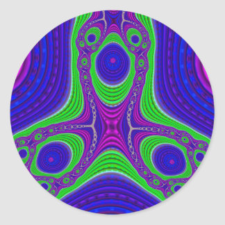 Triple Compressed Variation 3 Stickers (Round)
