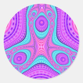 Triple Compressed Variation 4 Stickers (Round)