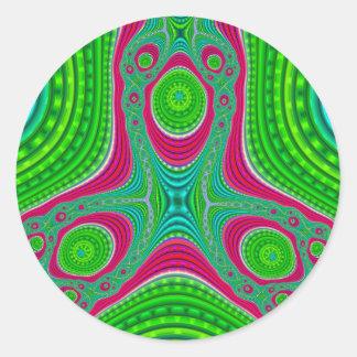 Triple Compressed Variation 5 Stickers (Round)