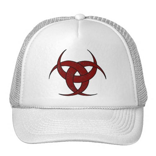 Triple Crescent Moon - Red Marble - 3 Hats