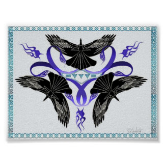 Triple Crow Celtic Knot Poster