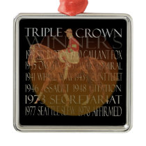 Triple Crown Winners Gifts & Party Supplies Metal Ornament