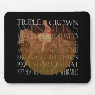 Triple Crown Winners Gifts & Party Supplies Mouse Pad