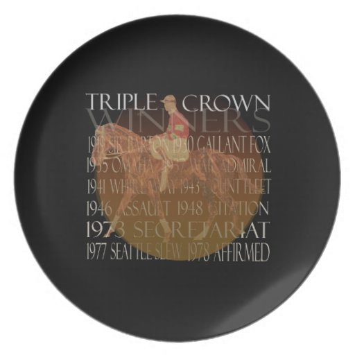 Triple Crown Winners Gifts & Party Supplies Party Plate
