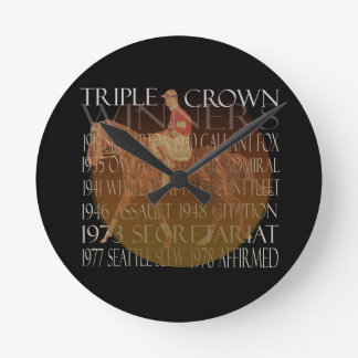 Triple Crown Winners Gifts & Party Supplies Round Clocks