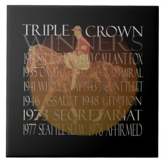 Triple Crown Winners Gifts & Party Supplies Tile