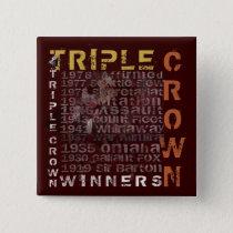 Triple Crown Winners Horse Racing Button