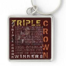 Triple Crown Winners Horse Racing Keychain