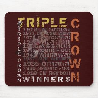 Triple Crown Winners Horse Racing Mouse Pad