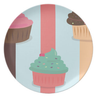 Triple Cup Cake Dinner Plate