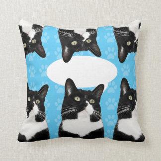 Triple Cute Kitty Throw Pillow