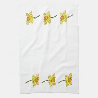 Triple Daffodil (Narcissus) Towel