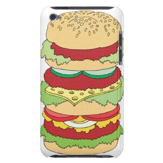 triple decker cheeseburger burger graphic iPod Case-Mate cases