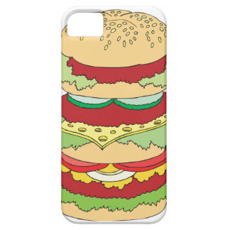 triple decker cheeseburger burger graphic iPhone SE/5/5s case