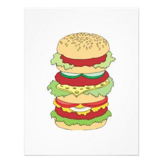 triple decker hamburger invite