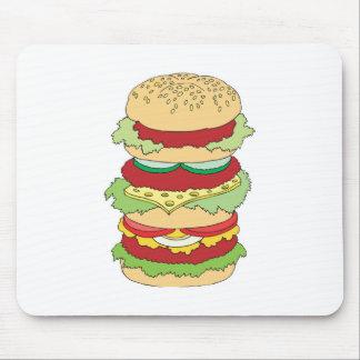 triple decker hamburger mousepad