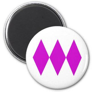 Triple Diamond 2 Inch Round Magnet