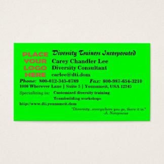 Triple Diversity Business Card