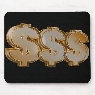 Triple Dollar Signs Mousepad