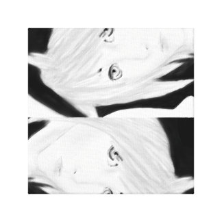 Triple Emote Black and White Canvas Canvas Print