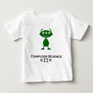 Triple Eye Computer Science Geek green Baby T-Shirt