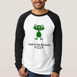 Triple Eye Computer Science Geek green T-Shirt