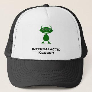 Triple Eye Intergalactic Kegger green Trucker Hat