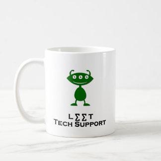 Triple Eye Leet Tech Support green Mugs