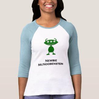 Triple Eye Newbie McNoobenstein green T Shirts