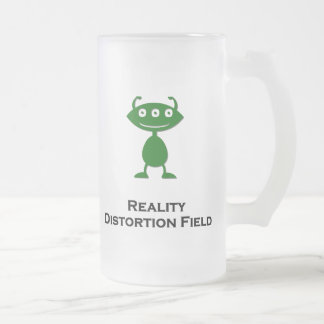 Triple Eye Reality Distortion Field green Frosted Glass Beer Mug