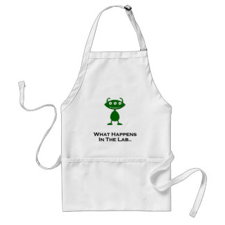 Triple Eye What Happens In The Lab green Adult Apron