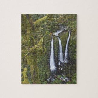 Triple Falls, Columbia River Gorge 2 Jigsaw Puzzle